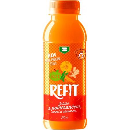 Refit - jablko s pomerančem, mrkví a zázvorem 200ml